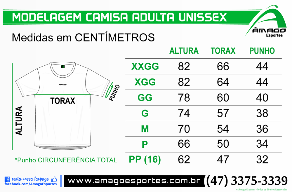 Modelagem Camisa Adulta Unissex (Copy)